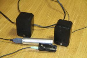 BluetoothレシーバーとPCスピーカーを接続
